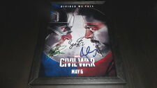 "CAPTAIN AMERICA 3 - CIVIL WAR PP SIGNED FRAMED A4 12""X8"" PHOTO POSTER IRON MAN"
