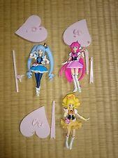 """HAPPINESSCHARGE PRECURE 4"""" Figure 3pcs Authentic Bandai Japan k#17009"""