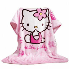 Hot Cartoon Hello Kitty Cat Air Throw Pink Color Coral Fleece Blanket