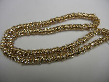 36 preciosa rhinestone rondelles,5mm crystal / gold plated