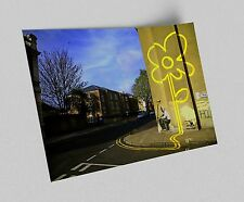 ACEO Banksy Yellow Flower Graffiti Street Art Canvas Giclee Print