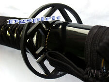 Handmade Engraved Dragon Black Japanese Sword Katana Razor Sharp Full Tang
