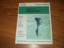 SEARS/ ESKA ~OWNERS MANUAL & PARTS LIST OUTBOARD MOTOR model-217-58560/ 1972
