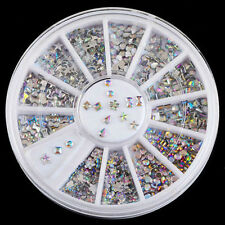 Mix Styles 3D Nail Art Acrylic Manicure Tips Glitter Rhinestone Wheel DIY Decor
