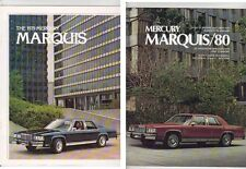 Two 1979 and 1980 MERCURY MARQUIS & GRAND MARQUIS US Range Brochures