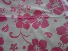 POTTERY BARN KIDS~PINK HIBISCUS TROPICAL HAWAIIAN~ TWIN DUVET COVER ~NEW
