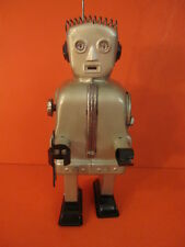 ALL ORIGINAL NOMURA SILVER ZOOMER ROBOT SPACE TOY MADE IN JAPAN 1956