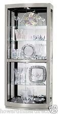 Howard Miller 680-396 Bradington II - Silver Curio Cabinet - Curved Front Glass