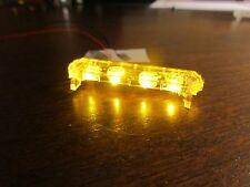 1/24 Flashing ALL AMBER LED Low Profile Lightbar for Custom Police Diecast Model