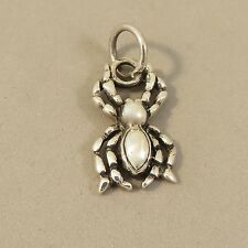 .925 Sterling Silver SPIDER Pendant NEW Insect Detailed Halloween Bug 925 PM22