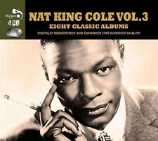 Nat King Cole EIGHT (8) CLASSIC ALBUMS VOL 3 Unforgettable PIANO STYLE New 4 CD