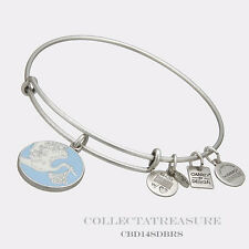 Authentic Alex and Ani Special Delivery Blue Rafaelian Silver Charm Bangle CBD