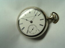 LARGE 18 SIZE 1890 ELGIN high grade POCKET WATCH  in a SUPER CLEAN CASE