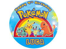 "POKEMON Party Edible image Cake topper decoration 7.5:""round"
