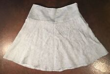 CAbi Women's One Fine Day Luna Skirt Salt Pepper #829 Sz 6