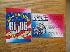 1994 COMIC IMAGES HASBRO GI JOE 30TH ANNIVERSARY PROMO CARD
