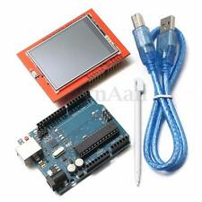 New UNO R3 ATmega328P Board + 2.4'' TFT LCD Touch Screen Module Set For Arduino
