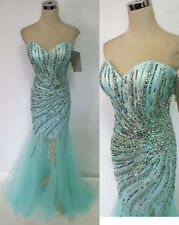 RIVA DESIGNS R9784 ICE BLUE $458 Formal Prom Gown 10