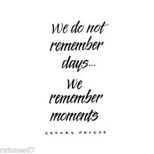 New Penny Black MOMENTS Wood Rubber Stamp Verse Sentiment Friends Memories Time