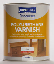 Johnstone's Woodcare Polyurethane Interior Varnish Gloss 750ml Clear