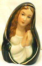 Porzellanfigur Madonna betend grün glasiert Wagner Apel