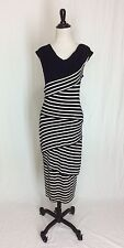 Bailey 44 Women's Medium Column Navy Striped Stretchy Knit Dress Anthropologie