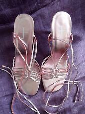 Pink Metallic *Jasper Conran* Strappy Sandals/Shoes Occasion/Party UK 3 / EU 36
