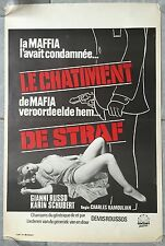 Affiche Belge LE CHATIMENT Marino Girolami LEONARD MANN Luis Vito Russo