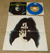 KISS ACE FREHLEY BLUE VINYL + MASK 45RPM 7""