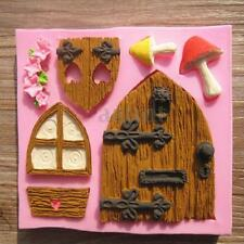 3D Silicone Fairy House Door Cake Baking Mold Fondant Chocolate Sugarcraft Decor