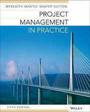 Project Management In Practice by Jack Meredith Sutton Shafer 5th Edition