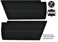 GREEN STITCHING 2x REAR END SIDE PANEL VINYL COVERS FITS VW T25 T3 WESTFALIA