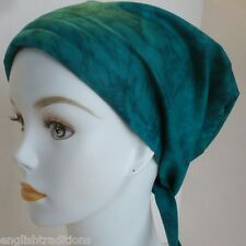 Cancer Chemo Hat Hair loss Cotton Alopecia Scarf Turban Head Wrap Cover Teal