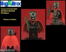 BATMAN BEYOND DC Custom Printed LEGO Minifigure with Cape NO DECALS USED!