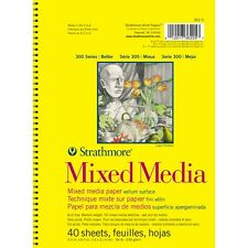 "Strathmore Mixed Media Vellum Spiral Paper Pad 5.5""X8.5""-40 Sheets"