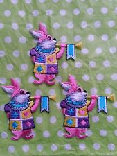 "NEW Lot Of 3 Alice in Wonderland Looking Patches, Very Vibrant 2""1/2"" inches"