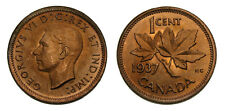1937 Canada One Cent MS-64 Red
