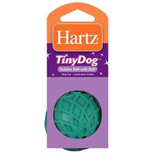 Hartz Rubber Ball with Bell for Tiny Dogs 1 ea