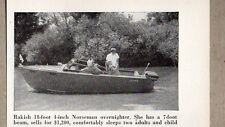 1956 Magazine Photo Norseman 18 Ft Overnighter Boats