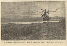Stampa antica LAGO DI VARESE veduta panoramica 1894 Old antique print
