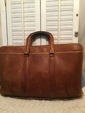 COACH Vintage Whiskey Brown Leather Attache Briefcase Laptop Bag Made In NYC