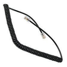 Microphone Cable  8 Pin Replacement Coiled Cord for Kenwood Mobile Radio
