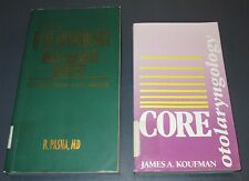 LOT of 2 Softcover Books Otolaryngology Vintage Good Plus Medical Text