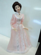 DOLLHOUSE HANDMADE PORCELAIN DOLL/ LADY IN PINK
