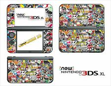 SKIN DECAL STICKER - NINTENDO NEW 3DS XL - REF 191 STICKER BOMB