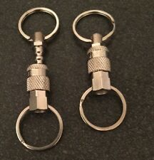 AUTHENTIC AMFLO 900 (2) Key Ring/chain quick release pull apart coupler & Plug