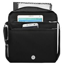 "Black 10"" Tablet Messenger Shoulder Bag For iPad Pro 9.7""/Samsung Galaxy Tab S3"
