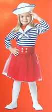 Youth Girl Costume - Sassy Sailor Outfit & Hat Sz S (4-6) NEW