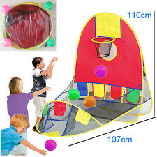 Play House Indoor Outdoor Easy Folding Ball Pit Hideaway Tent Play Hut For Kids