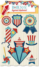 Bo Bunny Firecracker Collection Layered Chipboard Stickers BoBunny  2016